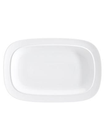 DENBY - White Squares Large Rectangular Platter No Color
