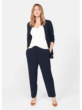 Violeta by MANGO - Boat Slim Fit Suit Trousers 56 NAVY