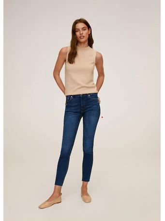 MANGO - Crop Skinny Isa Jeans - Dark Blue TO DK BLUE