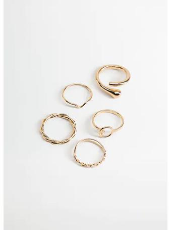 MANGO - Metal Ring Set GOLD