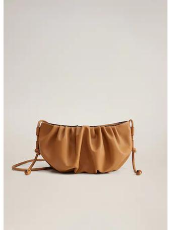 MANGO - Pleated Volume Bag BROWN