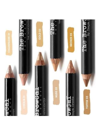 BROWGAL HIGHLHT PENCIL 2 GOLD/NUDE No Color