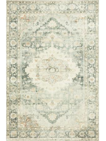 LOLOI II - Rosette Rug Collection TEAL/IVORY