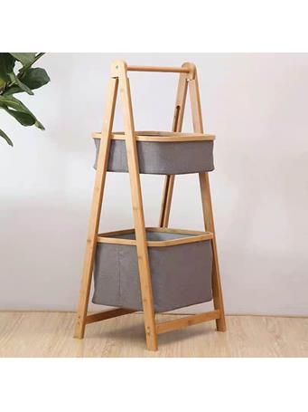 2 Tier A-Frame Storage Basket GREY