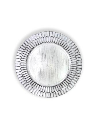 Distressed White Plate Charger WHITE