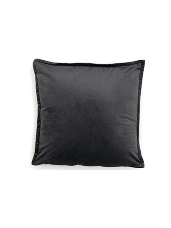 MAISON LUXE - Decorative Pillow Solid Velvet Flange CHARCOAL