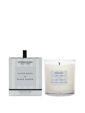 STONEGLOW - Modern Classics Silver Birch & Black Pepper Candle NO COLOUR