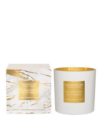 STONEGLOW - Luna Cedarwood & Cypress 3-Wick Candle  NO COLOUR