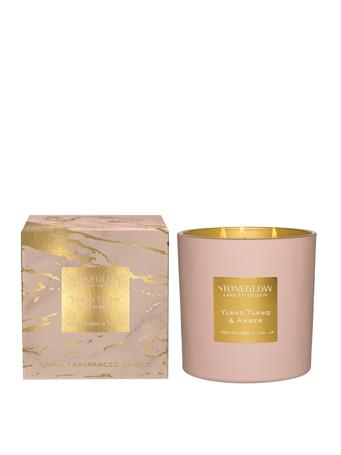 STONEGLOW - Luna Ylang Ylang & Amber 3-Wick Candle  NO COLOUR