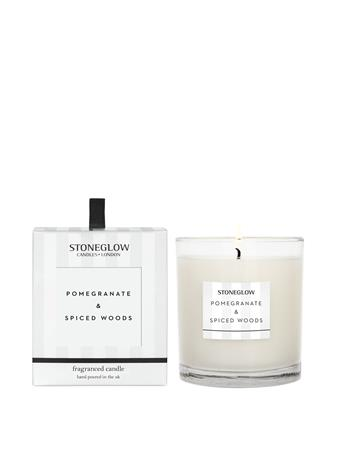 STONEGLOW - Modern Classics Pomergranate & Spiced Woods Candle  NO COLOUR