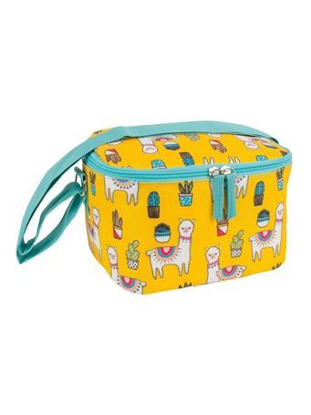 PORTA - 4Pc. Llama Lunch Bag Set  YELLOW