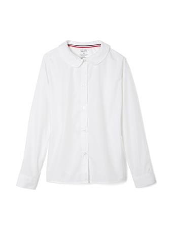 FRENCH TOAST - Long Sleeve Modern Peter Pan Collar Blouse WHITE