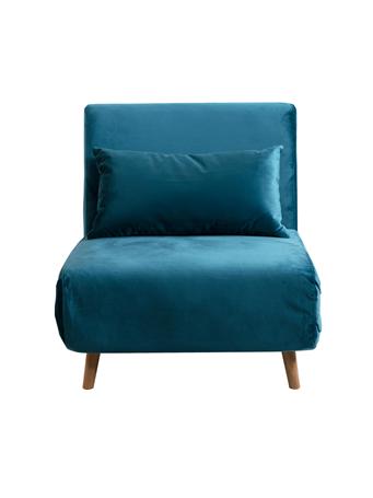 PARK SLOPE - Convertible Sleeper Chair TEAL