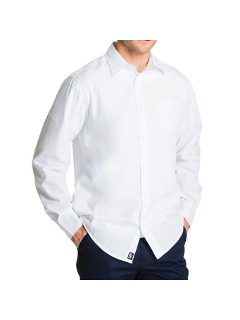 LEE - Young Men's Long Sleeve Dress Shirt WHITE