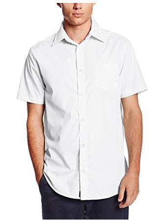 LEE - Young Men's Short Sleeve Dress Shirt WHITE