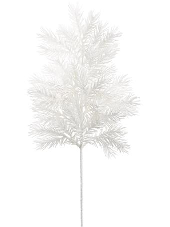 ALL STATE FLORAL - Glittered Sprayed Pine WHITE
