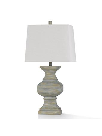 "STYLECRAFT - Hot Springs Table Lamp 33"" WASHED WHITE"