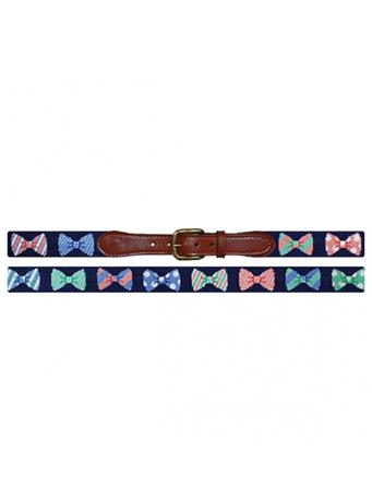 SMATHERS & BRANSON - Bow Tie Traditional Belt NAVY