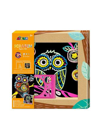 Scratch Spiro-Art Owl Craft Set NO COLOR