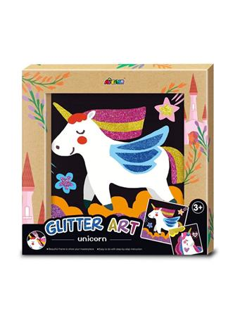 Glitter Art Unicorn Craft Set NO COLOR