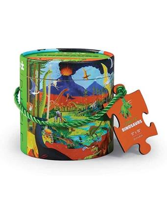 CROCODILE CREEK - Land Of Dinosaurs 24 Piece Mini Canister Puzzle NO COLOR