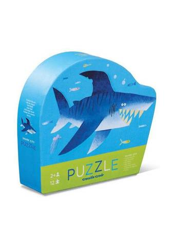 CROCODILE CREEK - Shark 12 Piece Mini Puzzle NO COLOR