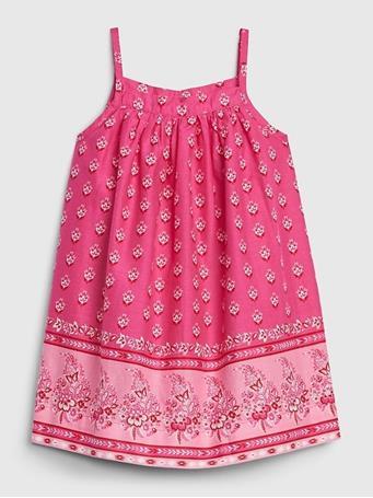 GAP - Baby Sleeveless Dress SIZZLING FUCHSIA