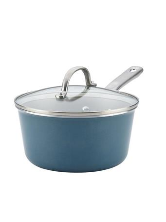 AYESHA CURRY COLLECTION - 3Qt. Nonstick Saucepan with Lid - Teal TEAL