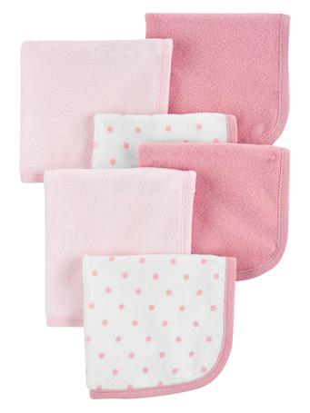 CARTER'S - 6 Pack Washcloths MULTI