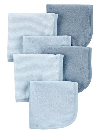CARTER'S - 6 Pack Washcloths  MULTI