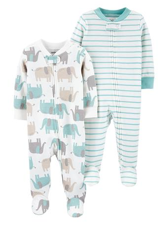 CARTER'S - 2 Pack Zip-Up Cotton Sleep & Plays  MULTI