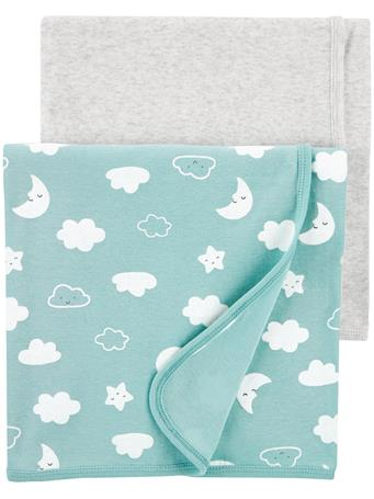 CARTER'S - 2 Pack Clouds Blankets  MULTI