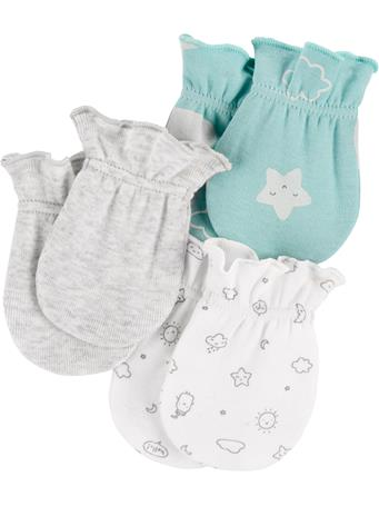 CARTER'S - 3 Pack Mittens MULTI