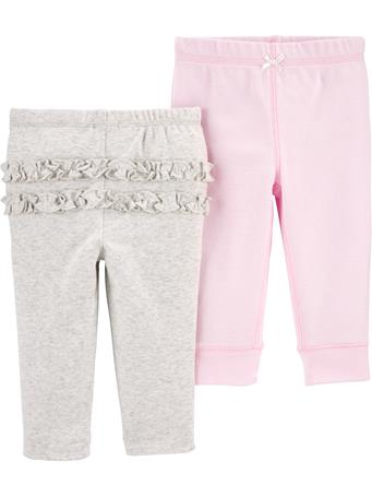 CARTER'S - 2 Pack Pull-On Comfy Pants MULTI