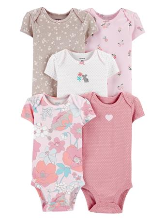 CARTER'S - 5 Pack Short Sleeve Bodysuit  MULTI