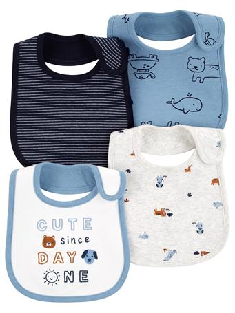 CARTER'S - 4 Pack Bibs  MULTI