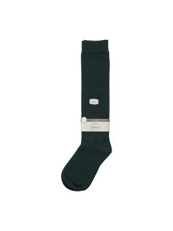 Flat Knit Knee High Socks HUNTER GREEN
