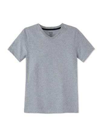 FRENCH TOAST - Short Sleeve V-Neck Tee HEATHER GREY