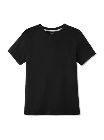 FRENCH TOAST - Short Sleeve V-Neck Tee BLACK