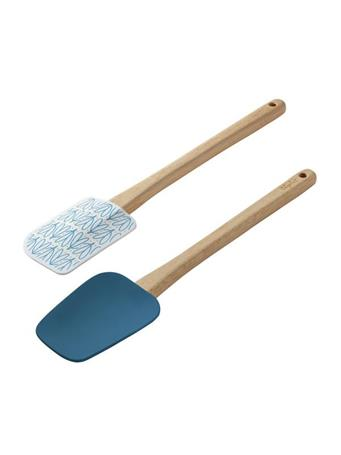 """AYESHA CURRY COLLECTION - 2 Piece 11.5"""" Spatula Set - Teal & Hearts TEAL"""