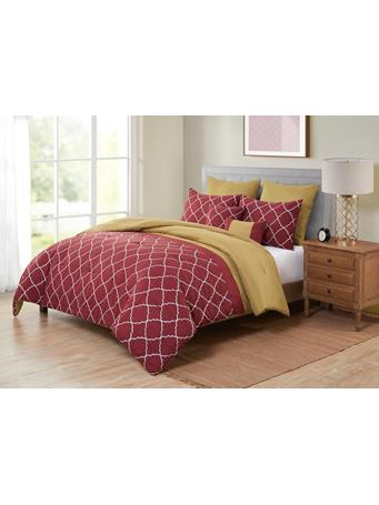 VCNY - Aries 7 Piece Comforter Set BURGUNDY