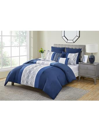 VCNY - Livingston 7 Piece Comforter Set NAVY