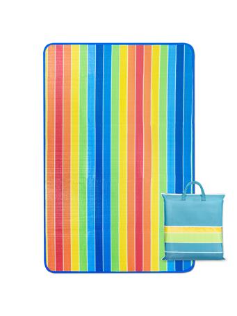 PICNIC BLANKET - Rainbow with Carry Bag MULTI