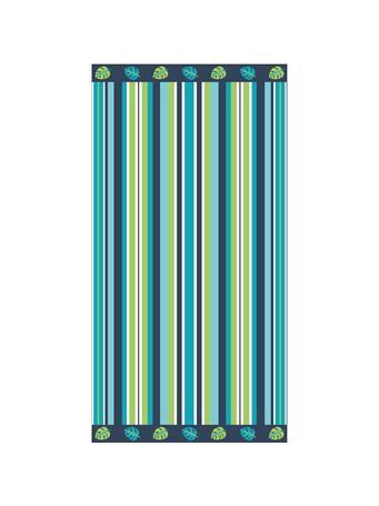 BEACH TOWEL -    Cotton Jacquard Beach Towels BLUE