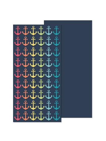 BEACH TOWEL -   Oversized Reversible Printed Beach Towels NAVY