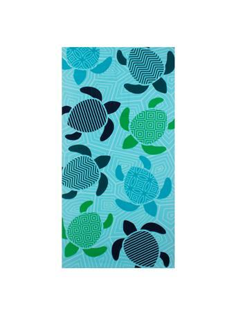 BEACH TOWEL - Printed Microfiber Beach Towel BLUE