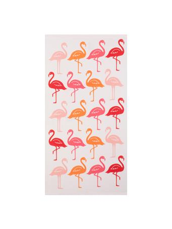 BEACH TOWEL - Printed Microfiber Beach Towel LIGHT PINK