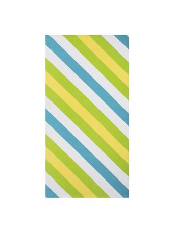 BEACH TOWEL -    Gradient & Diagonal Stripe GREEN