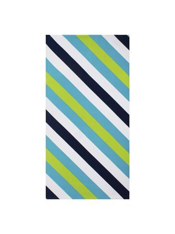 BEACH TOWEL -    Gradient & Diagonal Stripe BLUE