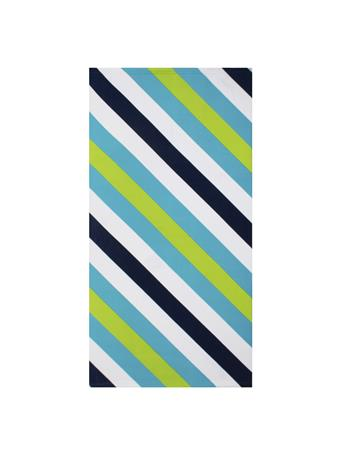 BEACH TOWEL -    Gradient & Diagonal Stripe BLUE